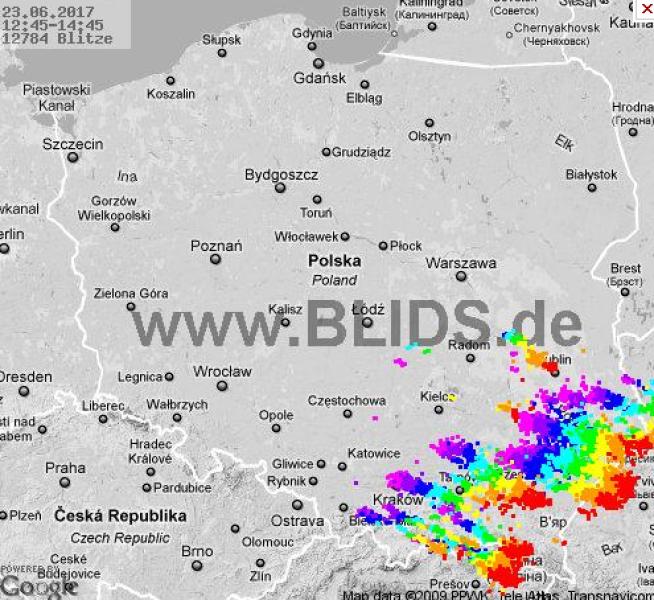 Którędy idą burze w Polsce