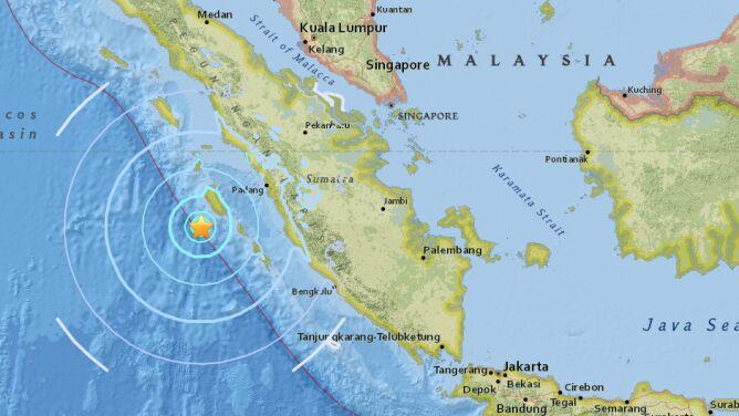 Na Sumatrze zatrzęsła się ziemia