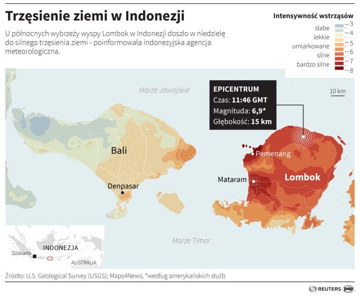 Trzęsienie ziemi w Indonezji (Adam Ziemienowicz/PAP/Reuters)