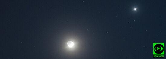 Koniunkcja Księżyca z Wenus. Wasze obserwacje