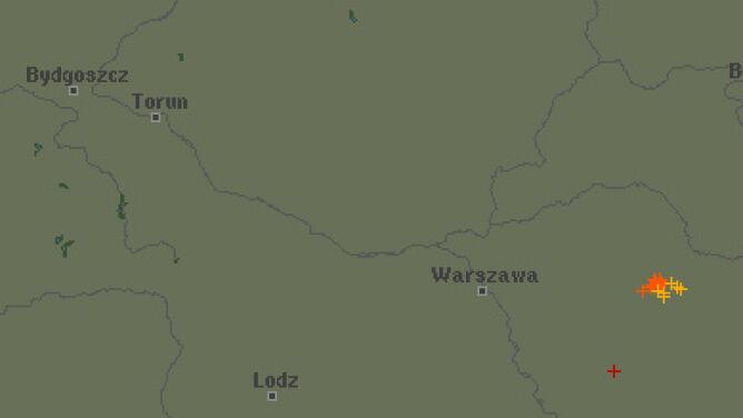 Grzmi na Mazowszu i Podlasiu