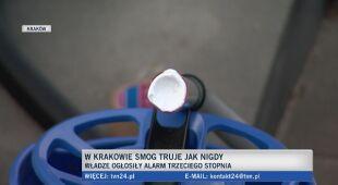 Smog w Krakowie - alarm trzeciego stopnia