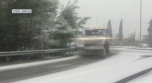 Obfite opady śniegu w Grecji